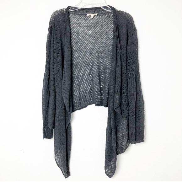 EILEEN FISHER Linen Silk Open Weave Knit Sweater